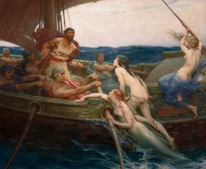 Herbert James Draper: Odysseus-und-die-Sirenen (London, 1864)